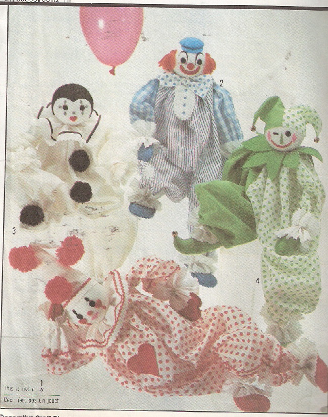 clown sewing pattern