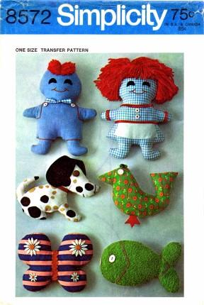 stuffed toys sewing pattern