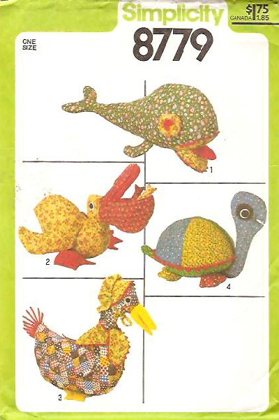 pelican whale sewing pattern