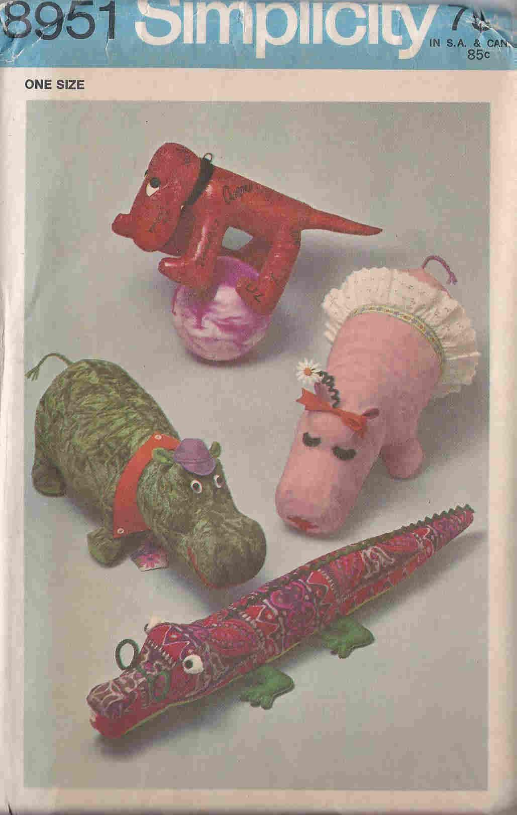 Stuffed Animals sewing pattern