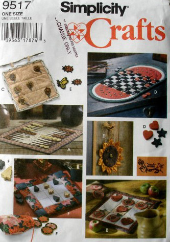 game boards sewing pattern