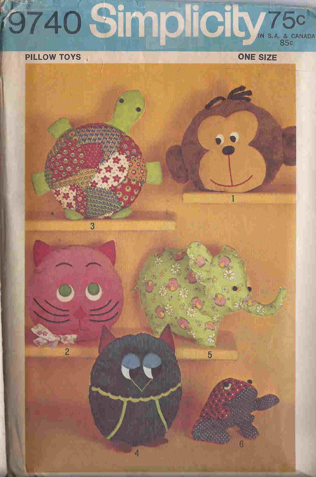 animal pillow sewing pattern