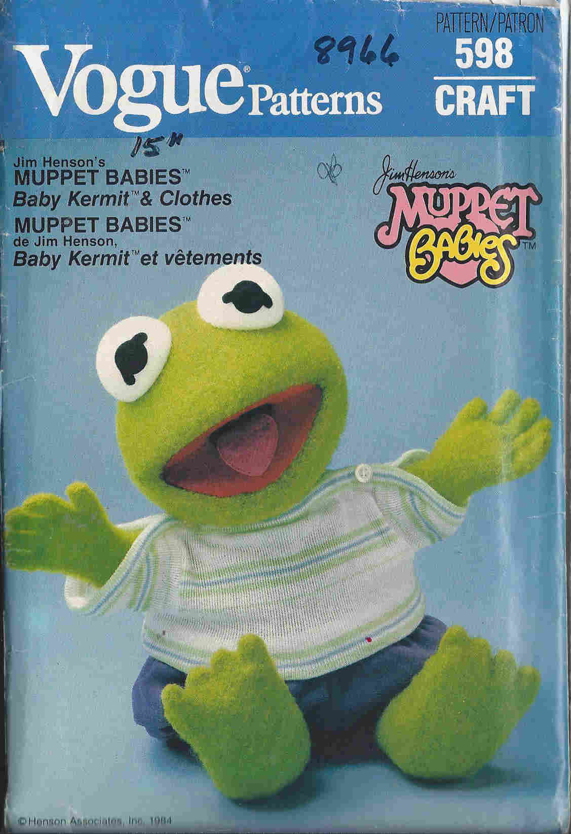 baby kermit the frog sewing pattern