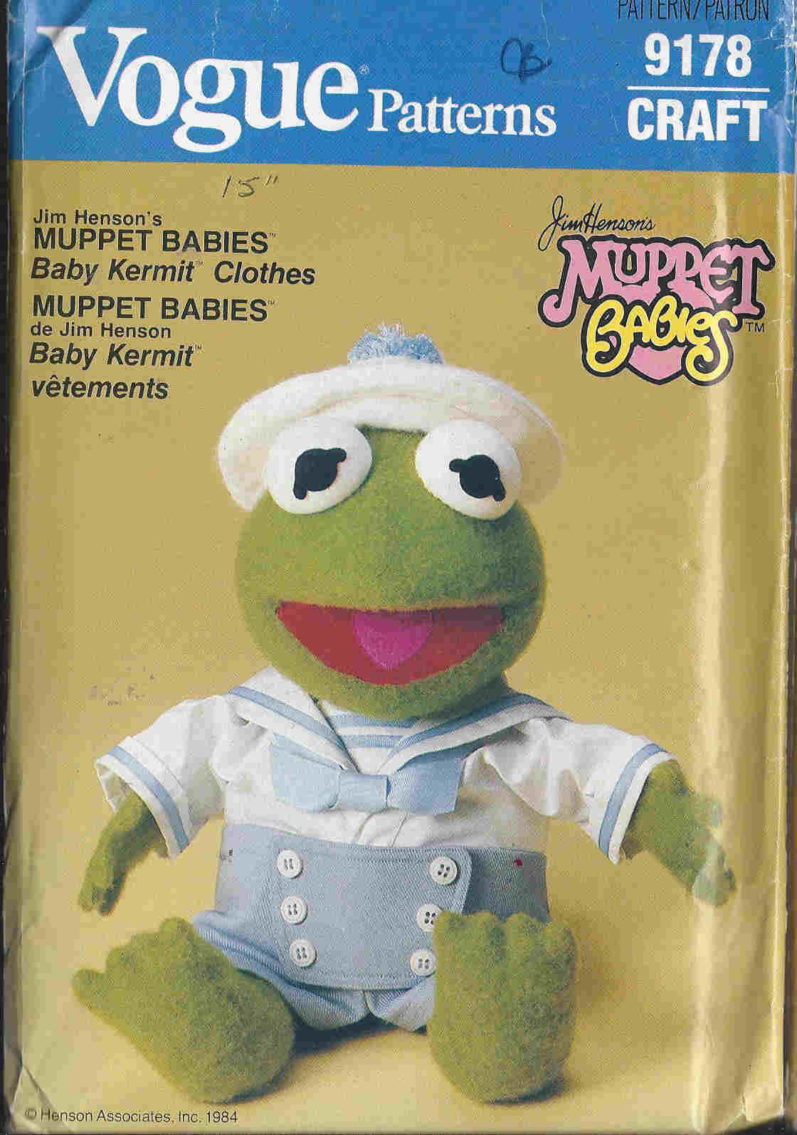 kermit the frog sewing pattern
