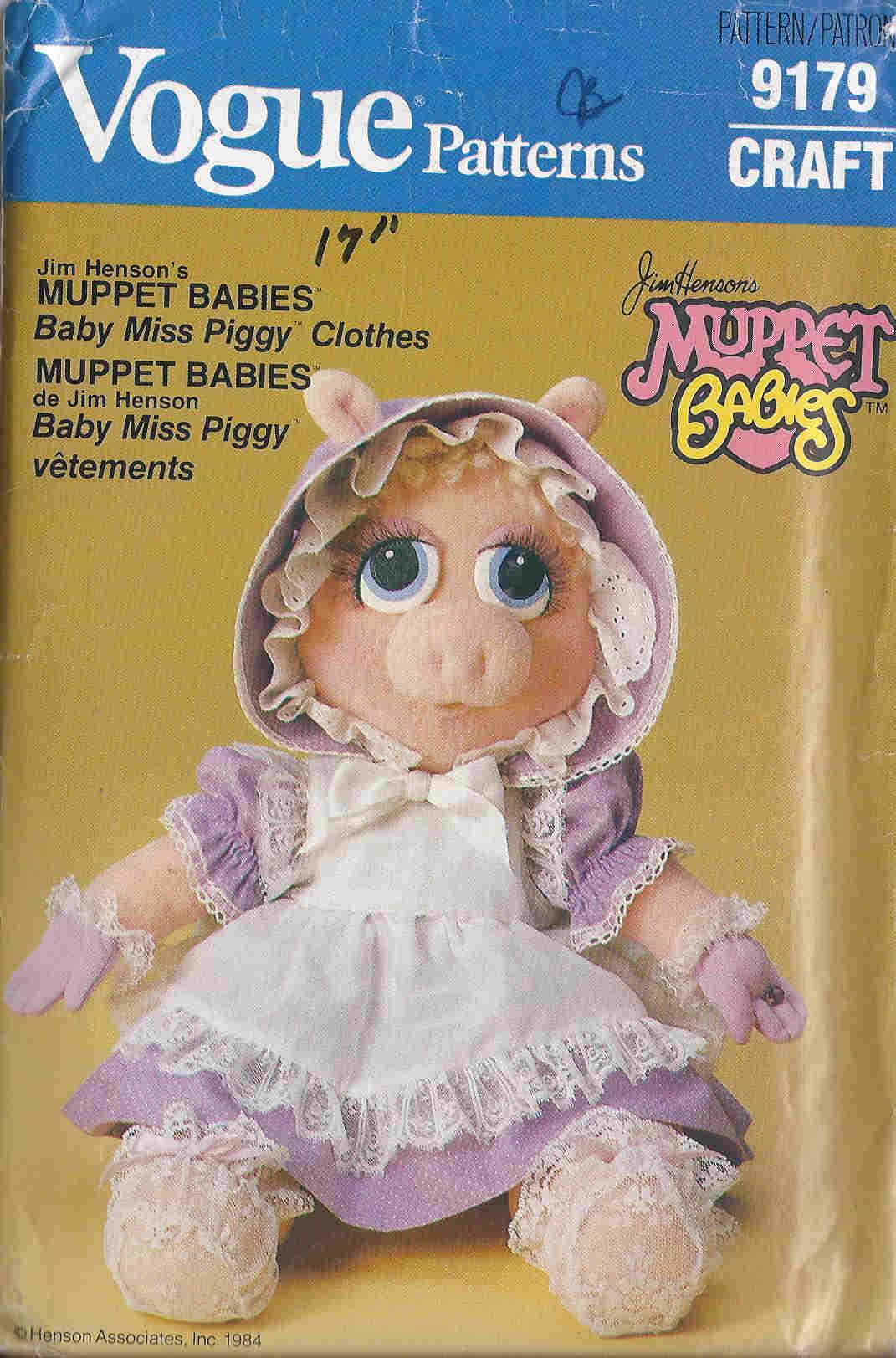 Miss Piggy sewing apttern