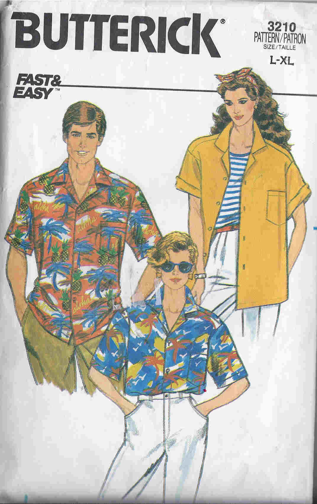 shirt unisex sewing pattern