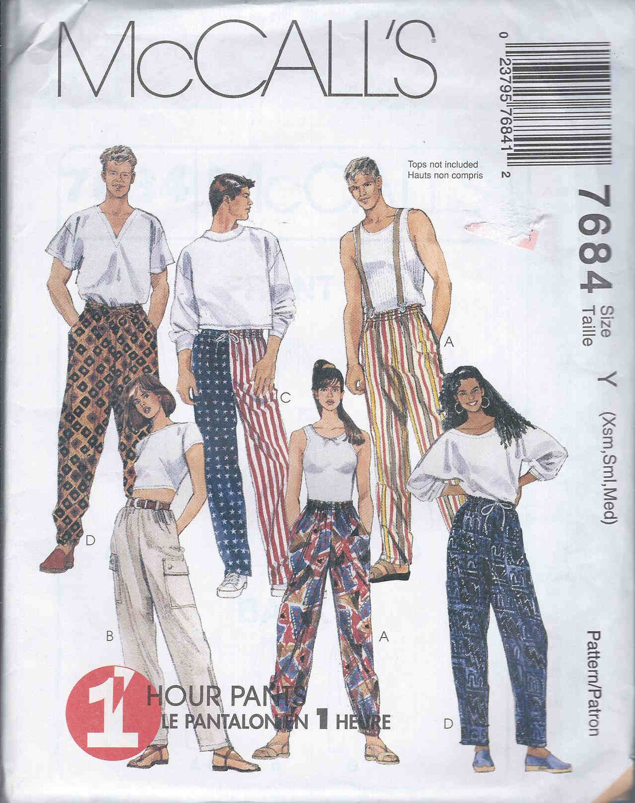 pants unisex sewing pattern
