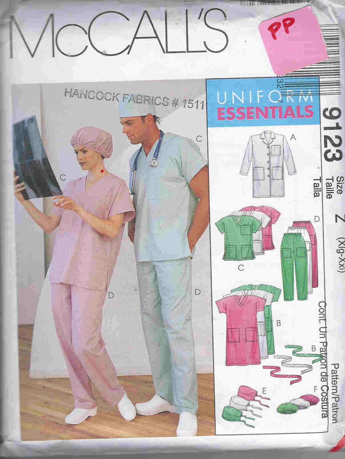 scrubs unisex sewing pattern