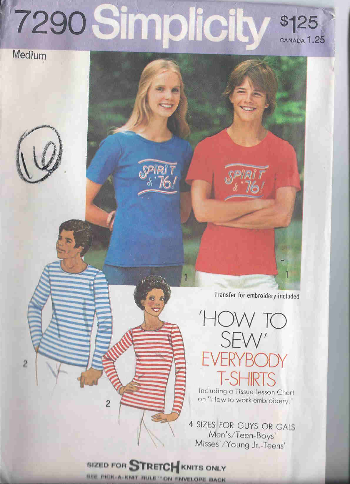 t-shirt unisex sewing pattern
