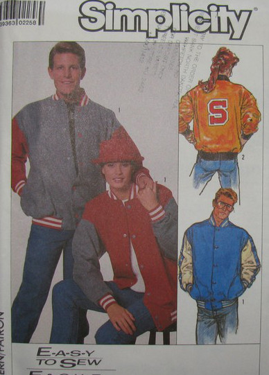 baseball jacket unisex sewing pattern