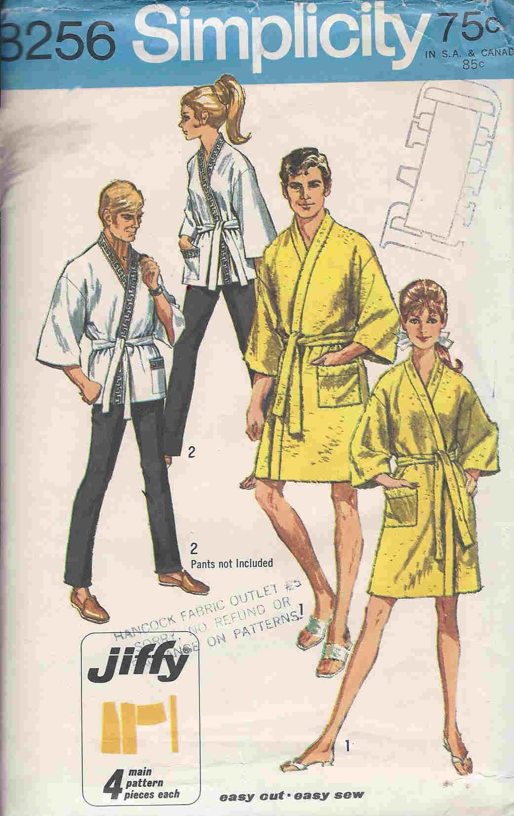 Jiffy Kimono unisex sewing pattern