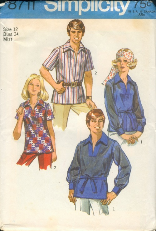 unisex sewing pattern
