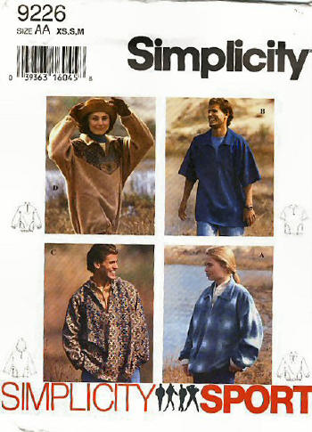 caftan unisex sewing pattern