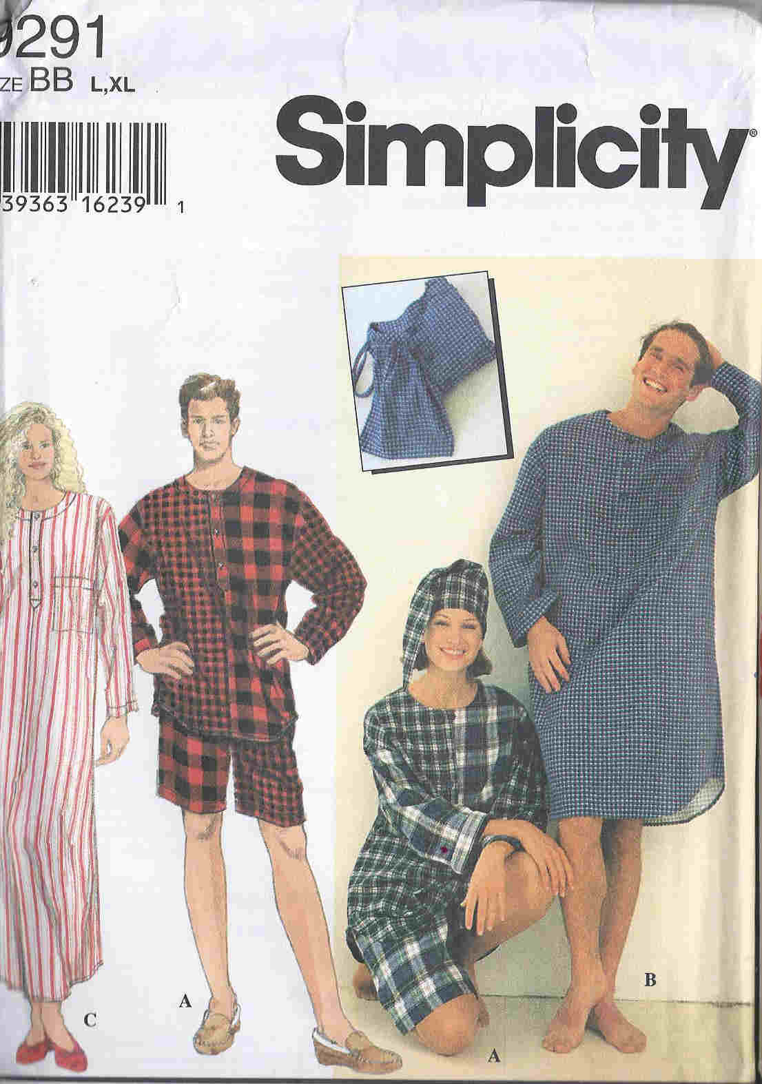 nightshirt unisex sewing pattern