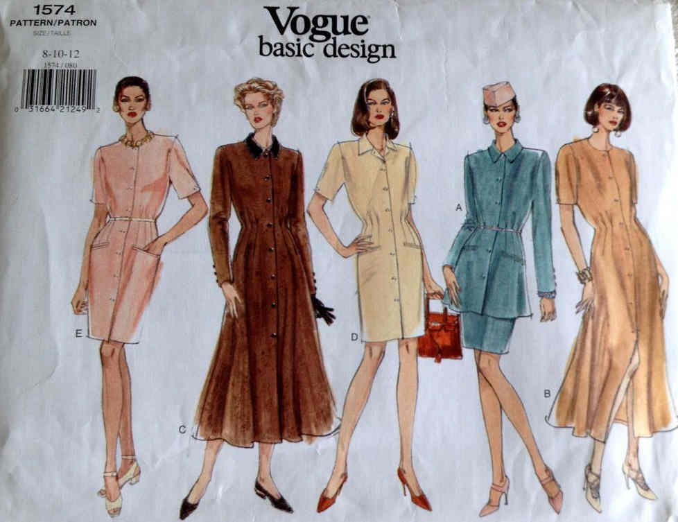 vogue basic design sewing pattern