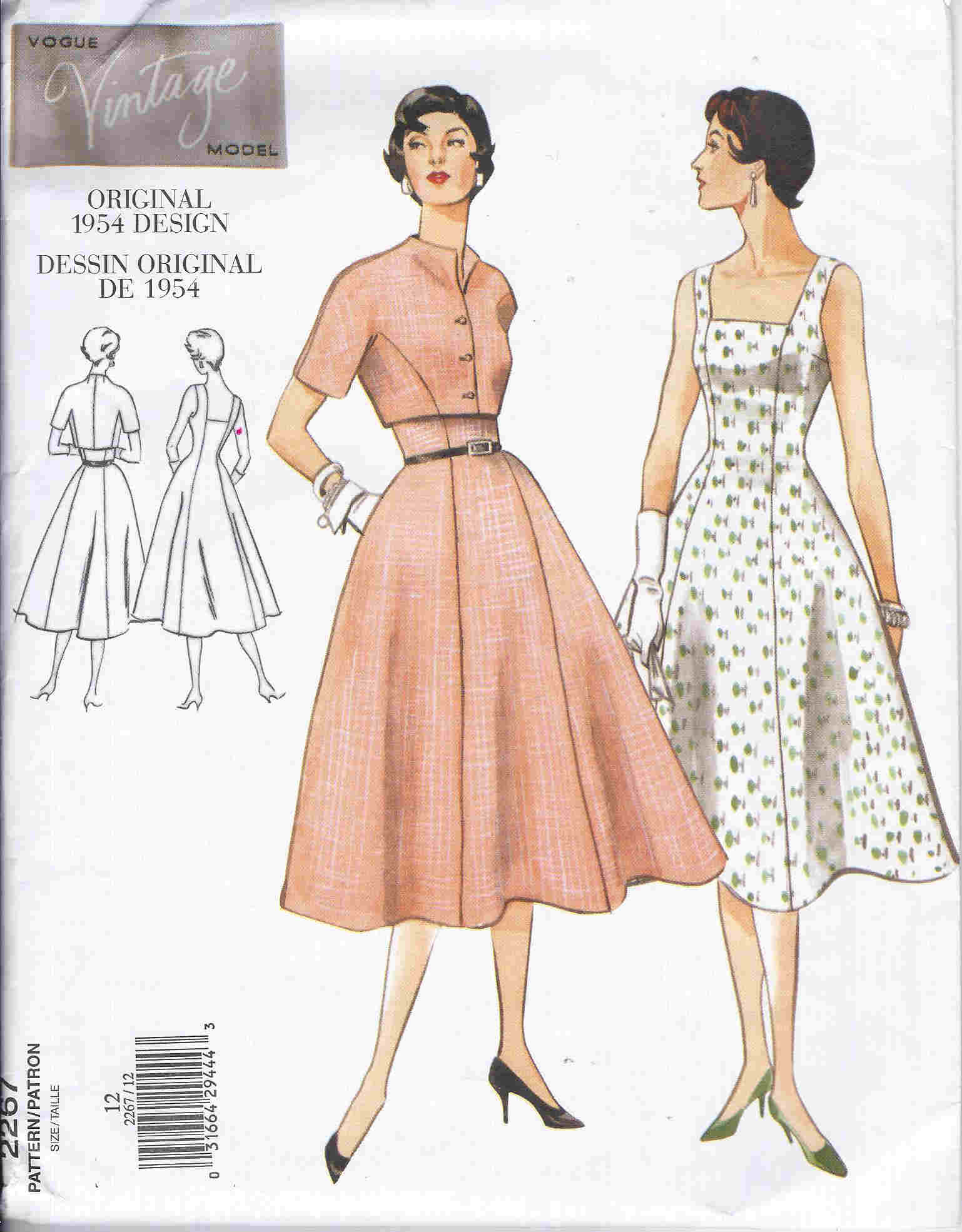 vintage vogue sewing pattern