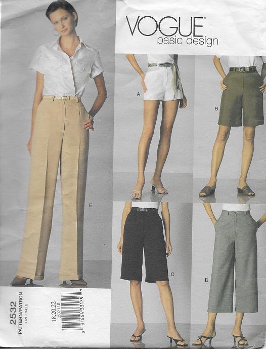 basic design shorts pants sewing pattern
