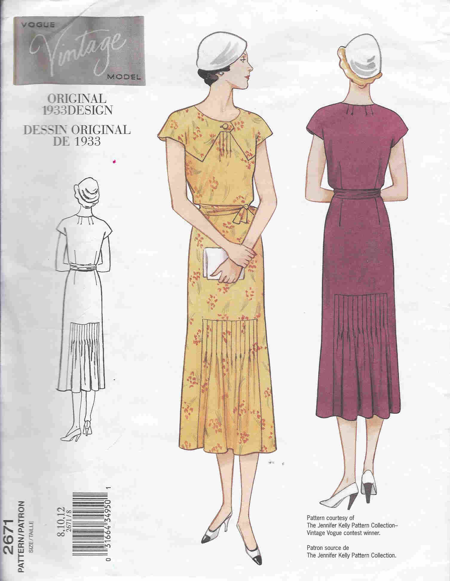 vintage vogue dress sewing pattern
