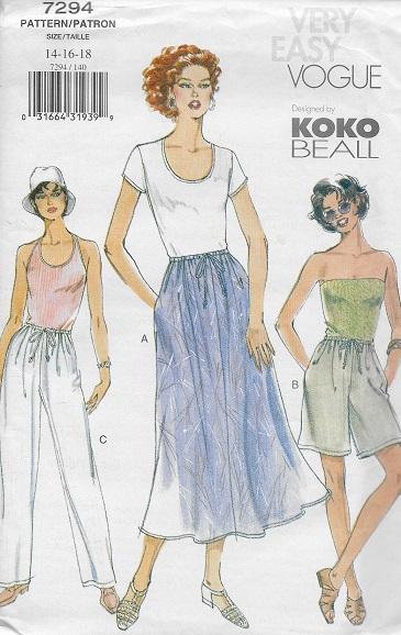 shorts pants skirt sewing pattern