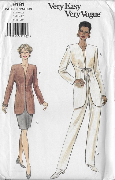 jacket skirt pants sewing pattern