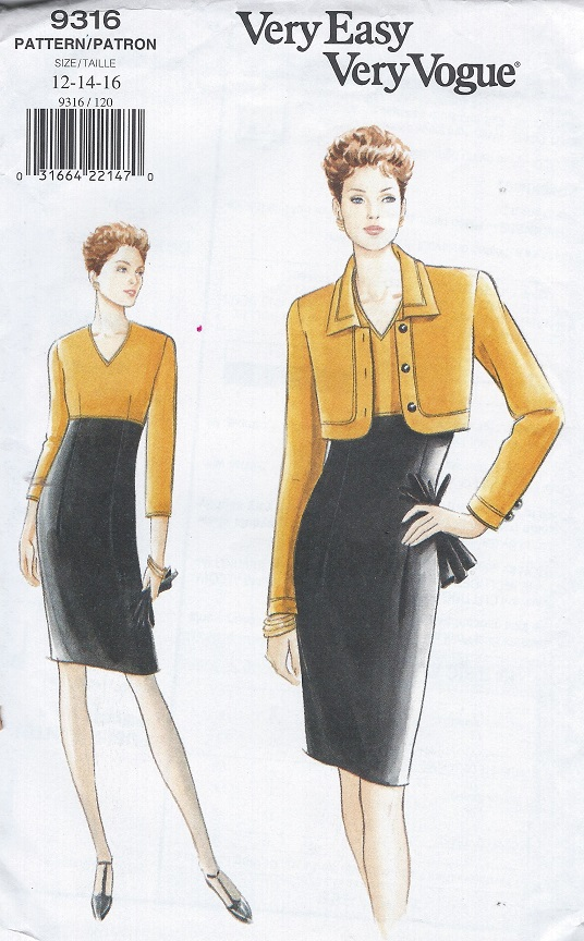 vogue very easy dress sewing pattern