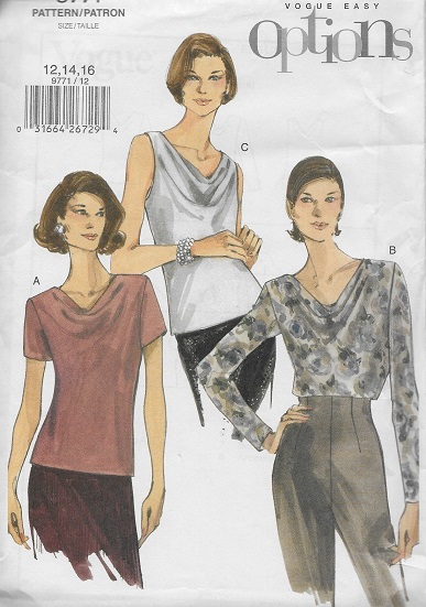 easy options top blouse sewing pattern