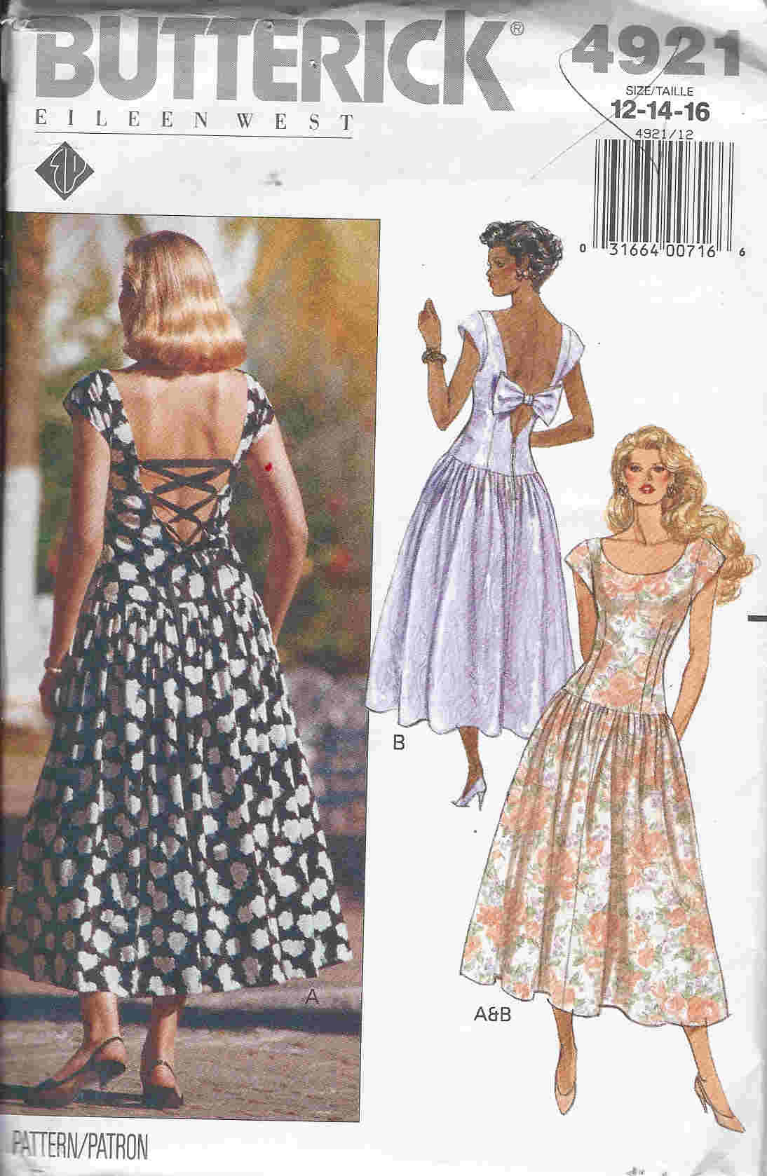 prom dress sewing pattern