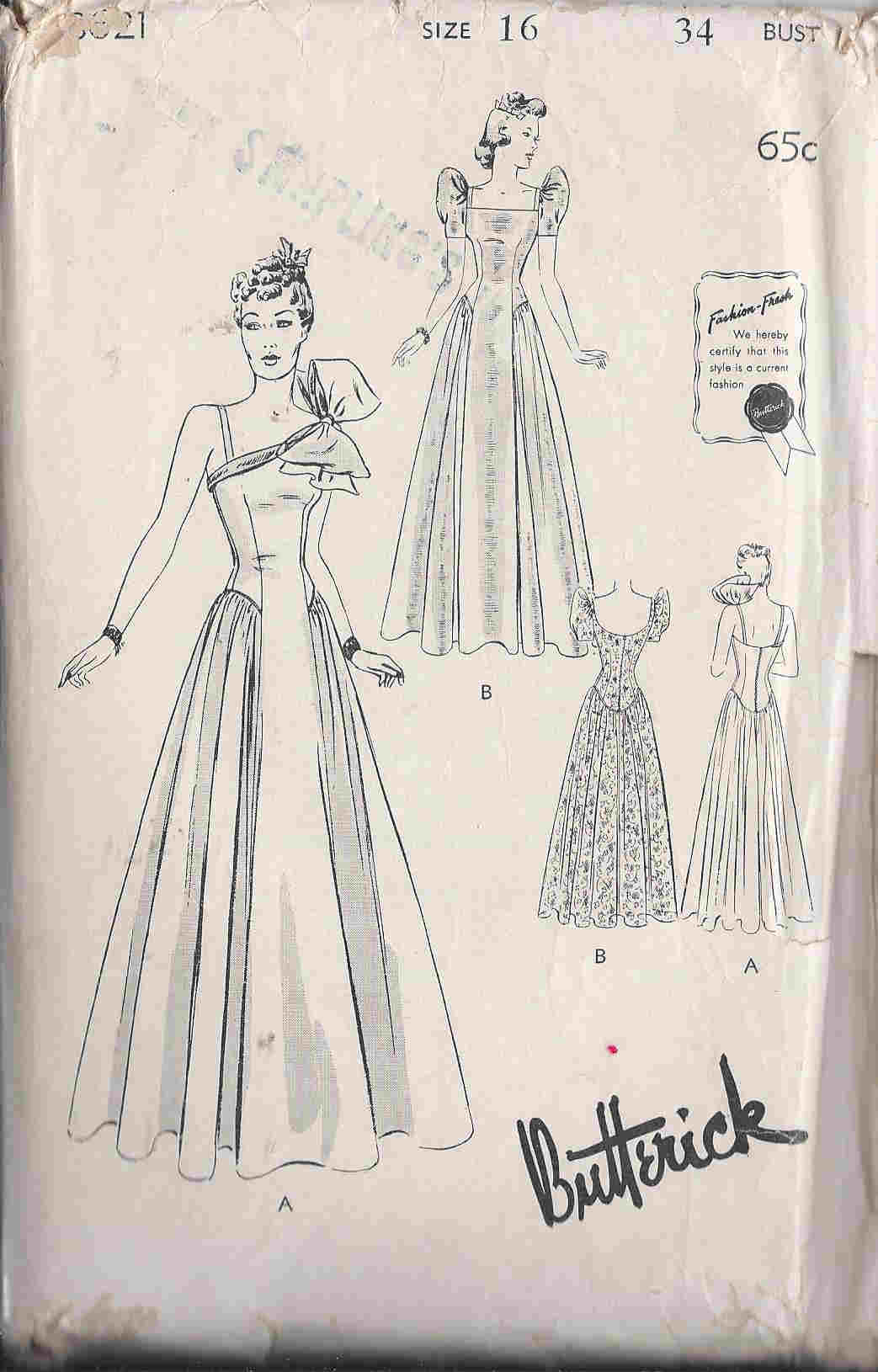 wedding gown sewing pattern