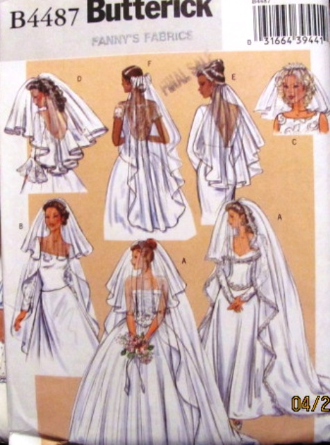 bridal wedding veils sewing pattern