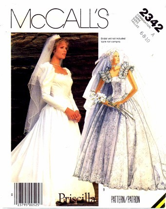 vintage wedding sewing pattern
