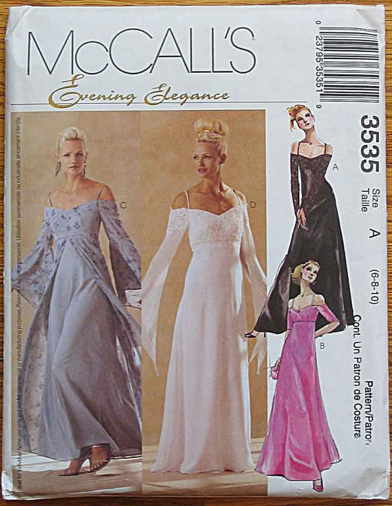 evening gown sewing pattern