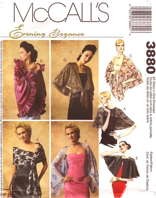 Evening Elegance wraps sewing pattern