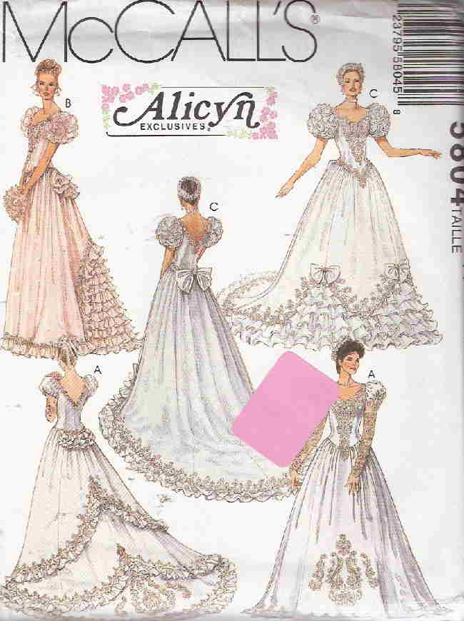 alicyn exclusives wedding gown sewing pattern