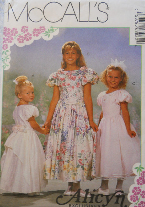 Alicyn Exclusives flower girl sewing pattern