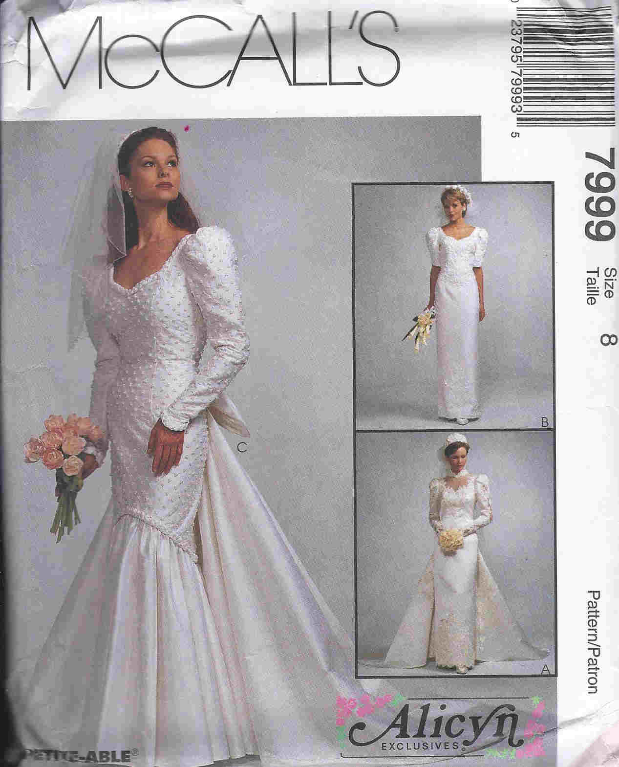 Alicyn Exclusives bridal gown sewing pattern