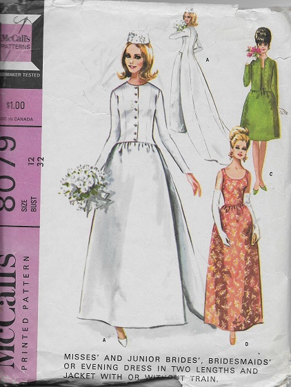bride bridesmaid evening dress jacket train sewing pattern