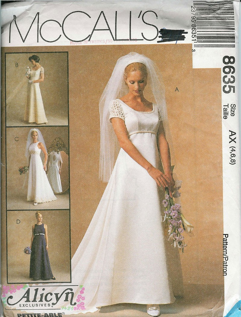 Alicyn Exclusives bride bridesmaid sewing pattern