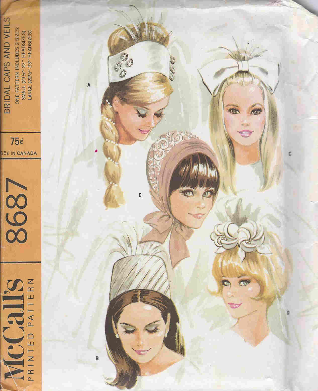 Bridal Caps Veils sewing pattern
