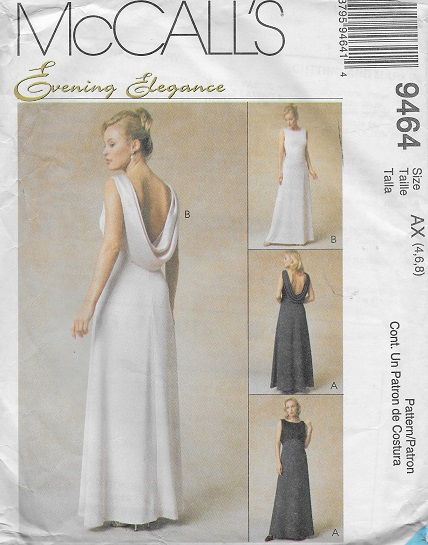evening elegance gown sewing pattern