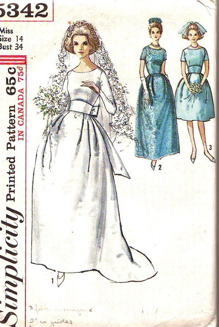 wedding dress bridesmaid sewing pattern