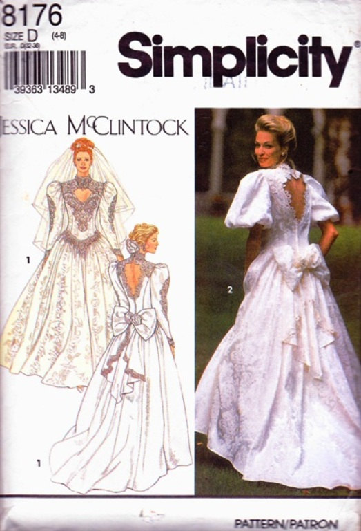 Jessica McClintock wedding sewing pattern