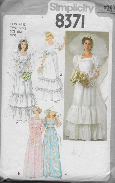 bridal bridemaid dress sewing pattern