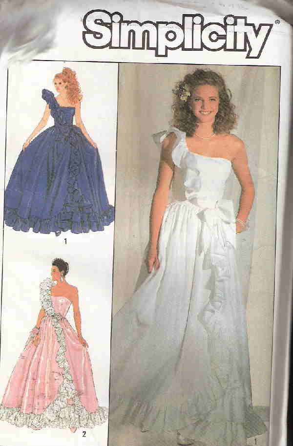 wedding prom dress sewing pattern