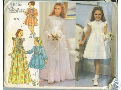 first communion flower girl sewing pattern