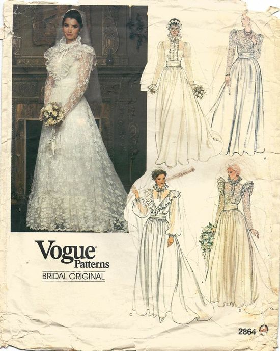 vintage wedding dress pattern