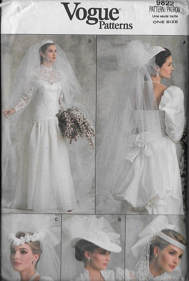 wedding veil headpiece sewing pattern