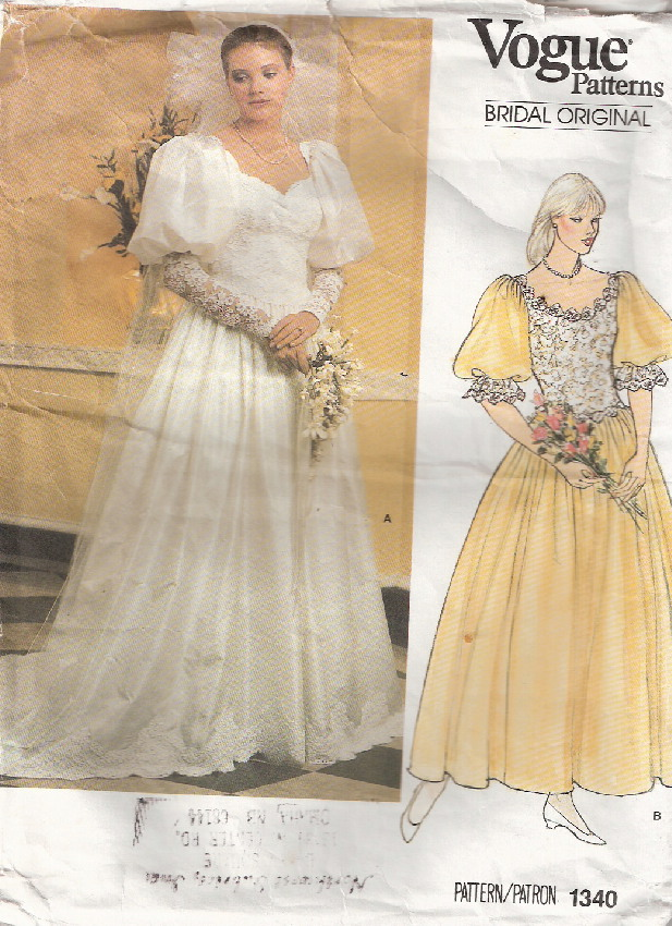 bridal original sewing pattern