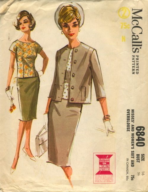 suit overblouse sewing pattern