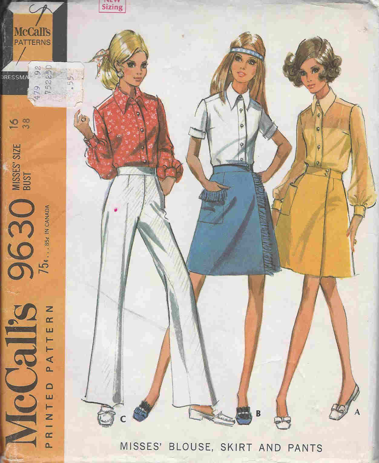 blouse skirt pants sewing pattern