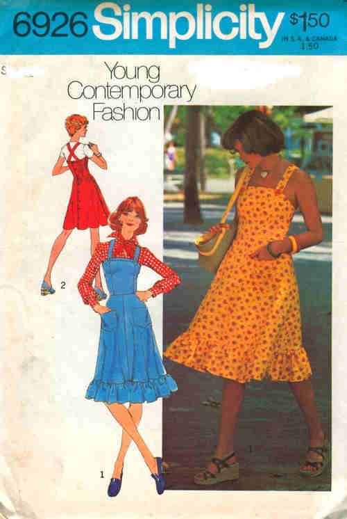 jumper dress 1970s Sewing pattern
